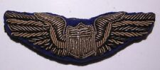 WW2 Brit Made AAF Pilot Wing - Hand Sewn Bullion on Combat Blue - PS