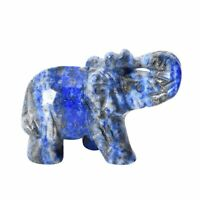 Home Decor Handcrafted Natural Lapis Lazuli Carved Elephant Fathers Day Gifts