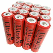 16X Battery 18650 Li-Ion 6000mAh 3.7V-4.2V Rechargeable Batteries for Flashlight