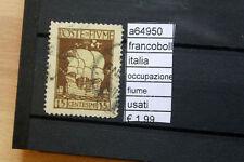 FRANCOBOLLI ITALIA OCCUPAZIONE FIUME USATI (A64950)