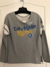 NEW Womens LOS ANGELES RAMS sweatshirt top size M $64 Grey Awesome relaxed Fit