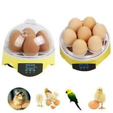 7 Eggs Digital Mini Incubator Clear Bird Chicken Duck Geese Quai Turning Hatcher