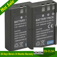 2x Battery EN-EL9/EN-EL9a for Nikon  D60 D40 D40X D5000 D3000 UK LOCAL