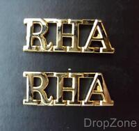 Pair of British Military Army RHA The Royal Horse Artillery Shoulder Titles NEW