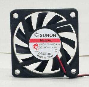 SUNON MB60101V1-000C-A99 6010 12V 1.44W CPU Fan 2-wire