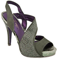 POETIC LICENCE ROYAL OCCASION 7.5 OR 8.5 SLINGBACK PEWTER GRAY FORMAL PROM