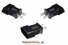 3 x Reisestecker Adapter USA Amerika Kanada Mexiko - ANGEBOT - Typ A