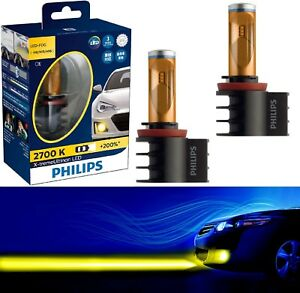 Philips X-Treme Ultinon LED Kit 2700K Yellow H11 Fog Light Two Bulbs Replace OE