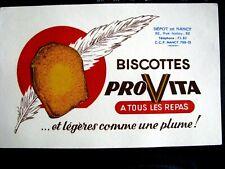 Ancien Buvard Biscottes Provita a tous les Repas Nancy