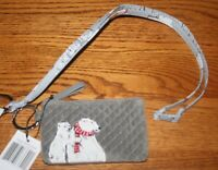 Vera Bradley Beary Merry ICONIC ZIP ID CASE & BREAKAWAY LANYARD badge holder