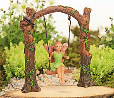 Arched Swing with Fairy ~ Fairy Garden Miniature ~ Fairy Accessory ~ by Jennifer