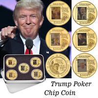 Metal Chips 2020 King Trump Poker Casino Game Good Luck Las Vegas Challenge Coin