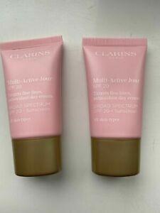 Clarins Multi Active Jour Day Cream SPF20 30ml (FOIL SEALED) (15ml x2)