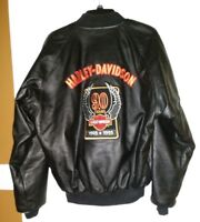 Rare Harley Davidson 90th Anniversary Leather Jacket 1903 -1993 Size Large New