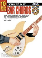 10 Easy Lessons Learn To Play Bar Chords (CD & DVD) - Same Day P+P