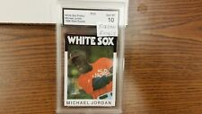 1986 STYLE  MICHAEL JORDAN WHITE SOX ROOKIE PROMO BASEBALL CARD GRADED 10+BONUS$