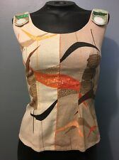 Vtg Atomic Ladies 50s Top Mid Century Womens Rockabilly Blouse Shirt Homemade Sm