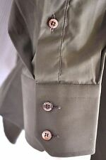 original GUCCI Designer Hemd chemise shirt neu Gr 43 XL brand NEW dunkel grün