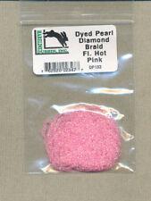 Dyed pearl diamond braid - fl hot pink     DP133
