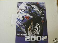 S291 SUZUKI BROCHURE OVERVIEW 2002 MODELS ENGLISH 28 PAGES DR-Z400E,DL1000,GSX