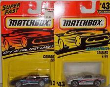 MATCHBOX MATCHBOX CAMARO Z-28 #43 CONVERTIBLE SILVER BLACK SUPERFAST 2 CAR LOT