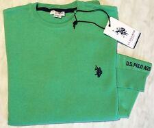 U.S. POLO ASSN. NuovoMaglione 100% Cotone Verde Menta Tg 16 anni / S Uomo