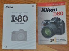 Nikon Genuine D80 Camera Instruction Manual + Magic Lantern Guide