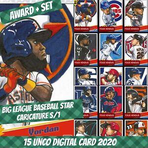 Topps Bunt Yordan Alvarez Award + Set (1+14) Big League Caricature 2020 Digital