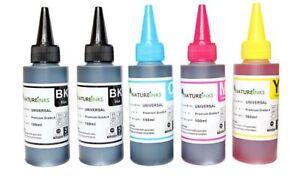 500ml Universal Premium Ink bottles kit to Refill empty printer ink cartridge