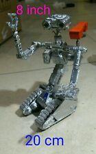 """Johnny 5 corto circuito robot """"20 cm"""" stupendo! Short circuit decorato a mano!"""
