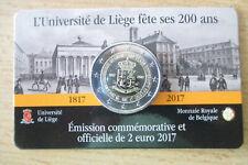 Belgien 2-Euro-Gedenkmünze 2017 -Uni Lüttich- in Coin-Card !!!!!