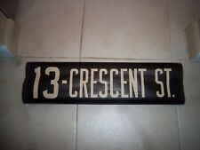 NYC BUS SIGN BROOKLYN 1956 CRESCENT STREET URBAN NY ROLL SIGN HOME TRANSIT ART