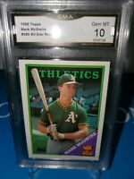 1988 Topps Mark McGwire #580 All-Star Rookie GMA 10💎 Mint! LONG GONE SUMMER🔥⚾️