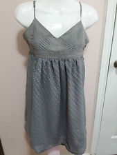 FOREVER 21 Gray Sheer Dress Spaghetti Straps Size M WC626