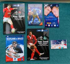 More details for set of welsh 2005 grand slam programmes + wales grand slam 2005 dvd