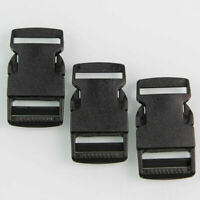 10 Pcs Black Plastic Side Quick Release Clips Buckles Webbing Bag Strap 1 Inch