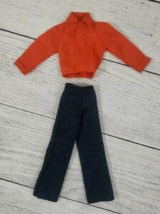 Vintage Barbie Ken Doll Red Jacket Blue Pants Jeans 2 Piece Lot Nice