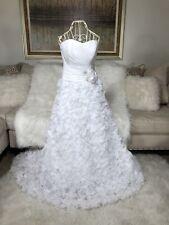 Allure Wedding Dress Bridal New Sz 8 White
