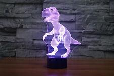 sweet  Dinosaur Jurassic Park 3D Acrylic LED 7colors USB  Night Light Des
