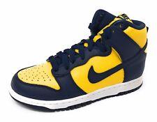 Nike Womens Dunk Retro QS Hi Top Trainers Blue/Yellow Size 7.5
