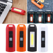 USB LED Keychain Key Ring COB Light Lamp Rechargeable Flashlight Torch Emergency