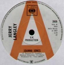 "[COOK / GREENAWAY] JERRY LANGLEY ~ JOANNA JONES / HOW LONG ~ 1967 UK ""PROMO"" 7"""
