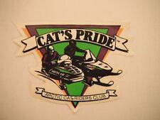 """Vintage Arctic Cat """"Cat's Pride"""" Riders Club Decal"""