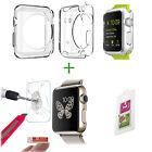 CASE + PANZERGLAS für Apple Watch 38mm 38 9H Schutz Displayschutz Klar Hülle