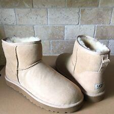 UGG Australia Classic Mini Boots Sand Suede Sheepskin Winter Boots Size 11 Women