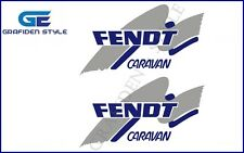 2 Stück  FENDT - CARAVAN - Wohnwagen Aufkleber - Sticker - B 30cm x H 17cm !<>!
