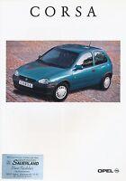 2629OPE Opel Corsa Prospekt 1993 8/93 deutsche Ausgabe brochure brosjyre Katalog