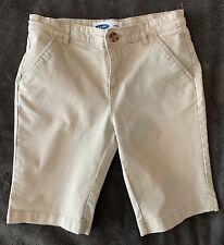 Old Navy Boys Size 16 Bermuda Shorts Tan Khaki Beige Uniform School Chino