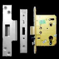 "Asec Euro Oval Nightlatch Mortice Door Lock Case 3""/76mm AS1094 Self Locking SS"