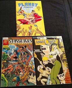 Dave Stevens GGA: Planet Comics #1,Starslayer #2(1st Rockeeter),Jonny Quest 5